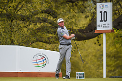 March 23, 2018 - Austin, TX, U.S. - AUSTIN, TX - MARCH 23: Keegan Bradley watches his tee shot during the third round of the WGC-Dell Technologies Match Play on March 23, 2018 at Austin Country Club in Austin, TX. (Photo by Daniel Dunn/Icon Sportswire) (Credit Image: © Daniel Dunn/Icon SMI via ZUMA Press)