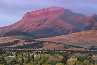 Ear Mountain at sunrise, Rocky Mountain front ranges near Choteau Montana