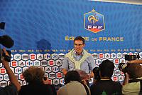FOOTBALL - MISCS - FEDERATION FRANCAISE DE FOOTBALL PRESS CONFERENCE - PARIS - FRANCE - 06/07/2010 - PHOTO STEPHANE KAMPINAIRE / DPPI - PRESENTATION LAURENT BLANC (FRANCE NEW COACH)