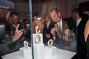 LADY WATT; LORD DERBY, Cartier Tank Anglaise launch. Kensington Palace Orangery, London.  19 April 2012.