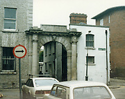 Old Dublin Amature Photos May 1983 with, Linnin hall gates, Henrietta place,  water tap, Palmerston, lion head,