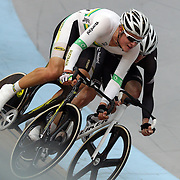 Edward Bissaker, Australia, in action during the Men Omnium competition at the 2012 Oceania WHK Track Cycling Championships, Invercargill, New Zealand. 21st November  2011. Photo Tim Clayton