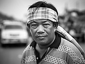 Thai Farmers Protest Rice Program (BW)