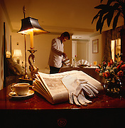 Park 51 Hotel Room Service includes a different kind of touch as white gloves are delivered with the morning newspaper so ink does not smear on the guest's hands.