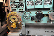 Instrumentation on the WW2 submarine, the USS Bowfin. USS Bowfin Submarine Museum and Park, part of the USS Arizona Memorial Museum in Pearl Harbour, Hawai.
