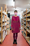 bio food shop worker portrait in time of the Covid 19 crisis France April 2020