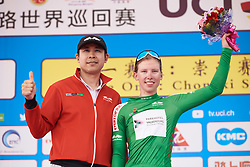Lorena Wiebes (NED) earns the green jersey at Tour of Chongming Island 2019 - Stage 1, a 102.7 km road race on Chongming Island, China on May 9, 2019. Photo by Sean Robinson/velofocus.com
