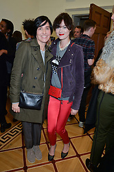 Left to right, SHARLEEN SPITERI and JASMINE GUINNESS at a private view of Chris Stein/Negative: Me, Blondie And The Advent Of Punk, held at Somerset House, The Strand, London on 5th November 2014.