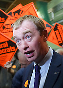 © Licensed to London News Pictures. 01/03/2013. Eastleigh, UK Deputy Leader of the Liberal Democrats Tim Farron. Ballot boxes begin to arrive at the count centre at  Fleming Park Leisure Centre in Eastleigh this evening. The voters of Eastleigh vote to choose a new MP in a by-election prompted by the resignation of former Lib Dem cabinet minister Chris Huhne. Polling will continued 22:00 GMT 28/02/13, with votes counted overnight on Thursday. There are 14 candidates in total on the ballot papers.. Photo credit : Stephen Simpson/LNP