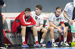 07.01.2017, BSFZ Suedstadt, Maria Enzersdorf, AUT, IHF Junior WM 2017 Qualifikation, Österreich vs Tschechische Republik, im Bild Antonio Juric (AUT), Maximillian Riede (AUT), Philipp Rabenseifer (AUT) // during the IHF Men's Junior World Championships qualifying match between Austria and Czech Republic at the BSFZ Suedstadt, Maria Enzersdorf, Austria on 2017/01/07, EXPA Pictures © 2017, PhotoCredit: EXPA/ Sebastian Pucher