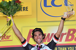 July 18, 2017 - Romans-Sur-Isere, FRANCE - Australian Michael Matthews of Team Sunweb celebrates on the stage podium after the sixteenth stage of the 104th edition of the Tour de France cycling race, 165km from Le Puy-en-Velay to Romans-sur-Isere, France, Tuesday 18 July 2017. This year's Tour de France takes place from July first to July 23rd...BELGA PHOTO DAVID STOCKMAN (Credit Image: © David Stockman/Belga via ZUMA Press)