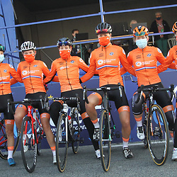 26-08-2020: Wielrennen: EK wielrennen: Plouay<br /> Nederlandse ploeg U23 <br /> Lieke Nooijen, Silke Smulders, Lonneke Uneken, Karlijn Swinkels, Emma Boogaard, Nicole Steigenga26-08-2020: Wielrennen: EK wielrennen: Plouay