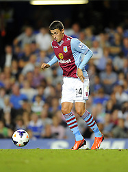 "Aston Villa's Matthew Lowton  - Photo mandatory by-line: Joe Meredith/JMP - Tel: Mobile: 07966 386802 21/08/2013 - SPORT - FOOTBALL - Stamford Bridge - London - Chelsea V Aston Villa - Barclays Premier League - EDITORIAL USE ONLY. No use with unauthorised audio, video, data, fixture lists, club/league logos or ""live"" services. Online in-match use limited to 45 images, no video emulation. No use in betting, games or single club/league/player publications"