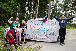 Supporters of Jan Polanc (SLO) of UAE Team Emirates  during Stage 3 of 24th Tour of Slovenia 2017 / Tour de Slovenie from Celje to Rogla (167,7 km) cycling race on June 16, 2017 in Slovenia. Photo by Vid Ponikvar / Sportida