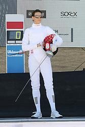 30.06.2015, Olympiapark Berlin, Berlin, GER, moderner Fünfkampf WM, Staffelbewerb Damen, im Bild Olympiasiegerin Lena Schoeneborn (SSF Bonn 1905) // during Women's relay race of the the world championship of Modern Pentathlon at the Olympiapark Berlin in Berlin, Germany on 2015/06/30. EXPA Pictures © 2015, PhotoCredit: EXPA/ Eibner-Pressefoto/ Hundt<br /> <br /> *****ATTENTION - OUT of GER*****