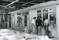 1987 Set builders at Hollywood Center Studios