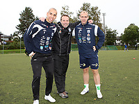 Fotball <br /> Grefsen Stadion<br /> 22.09.12<br /> <br /> Foto: Dagfinn Limoseth, Digitalsport<br /> Mahmoud El Haj , Geir Bakke og Tommy Edvardsen , Kristiansund