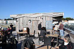 Cafe on the pier, Hastings, East Sussex UK Oct 2016