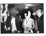 John Elliot and 'Pip'  Degree show, 'Finger de Buffet' Cenral St  Martins. London. 27 June 1997. © Copyright Photograph by Dafydd Jones 66 Stockwell Park Rd. London SW9 0DA Tel 020 7733 0108 www.dafjones.com