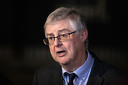 © Licensed to London News Pictures. 19/12/2018. London, UK. First Minister of Wales Mark Drakeford speaks to media in Downing Street after meetings with British Prime Minister Theresa May. Photo credit : Tom Nicholson/LNP