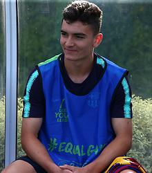 October 3, 2018 - London, England, United Kingdom - Enfield, UK. 03 October, 2018.Antonio Sola Villalba of FC Barcelona.during UEFA Youth League match between Tottenham Hotspur and FC Barcelona at Hotspur Way, Enfield. (Credit Image: © Action Foto Sport/NurPhoto/ZUMA Press)