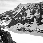Mount Jackson and the surrounding peaks within Glacier National Park.
