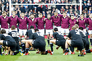 Picture by Andrew Tobin/SLIK images +44 7710 761829. 2nd December 2012. England watch the All Blacks haka during the QBE Internationals match between England and the New Zealand All Blacks at Twickenham Stadium, London, England. England won the game 38-21.