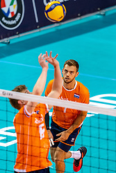 Gijs Jorna of Netherlands in action during the CEV Eurovolley 2021 Qualifiers between Croatia and Netherlands at Topsporthall Omnisport on May 16, 2021 in Apeldoorn, Netherlands