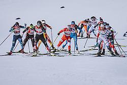 28.02.2021, Oberstdorf, GER, FIS Weltmeisterschaften Ski Nordisch, Oberstdorf 2021, Damen, Langlauf, Teamsprint, Freestyle, im Bild v.l.: Bayani Jialin (CHN), Izabela Marcisz (POL), Maja Dahlqvist (SWE) // f.l.: Dahria Beatty of Canada Izabela Marcisz of Poland Maja Dahlqvist of Sweden during women Cross Country team sprint freestyle competition of the FIS Nordic Ski World Championships 2021 in Oberstdorf, Germany on 2021/02/28. EXPA Pictures © 2021, PhotoCredit: EXPA/ Dominik Angerer
