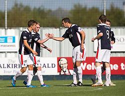 Falkirk's Craig Sibbald cele scoring their goal.<br /> half time : Falkirk 1v 0 Dumbarton, Scottish Championship game played 20/9/2014 at The Falkirk Stadium .