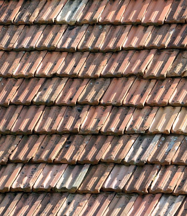 Tiled roof. Near Shkodër, Albania. 02Sep15