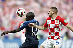 (L-R) Ngolo Kante of France, Ante Rebic of Croatia during the 2018 FIFA World Cup Russia Final match between France and Croatia at the Luzhniki Stadium on July 15, 2018 in Moscow, Russia