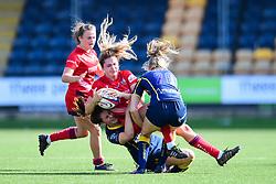 Lillian Stoeger of Bristol Ladies  is tackled by  - Mandatory by-line: Craig Thomas/JMP - 23/09/2017 - RUGBY - Sixways Stadium - Worcester, England - Worcester Valkyries v Bristol Ladies - Tyrrells Premier 15s