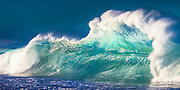 Shorebreak backwash wave at La Playa de Cerritos in Baja, California