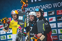 FISCHNALLER Roland  and FELICETTI Mirko (ITA)and WILD Vic (RUS)  during FIS alpine snowboard world cup 2019/20 on 18th of January on Rogla Slovenia<br /> Photo by Matic Ritonja / Sportida
