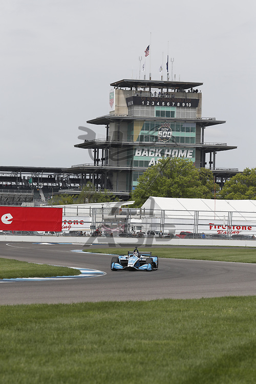 The NTT IndyCar Series teams take to the track to practice for the IndyCar Grand Prix of Indianpolis at Indianapolis Motor Speedway in Indianapolis Indiana.