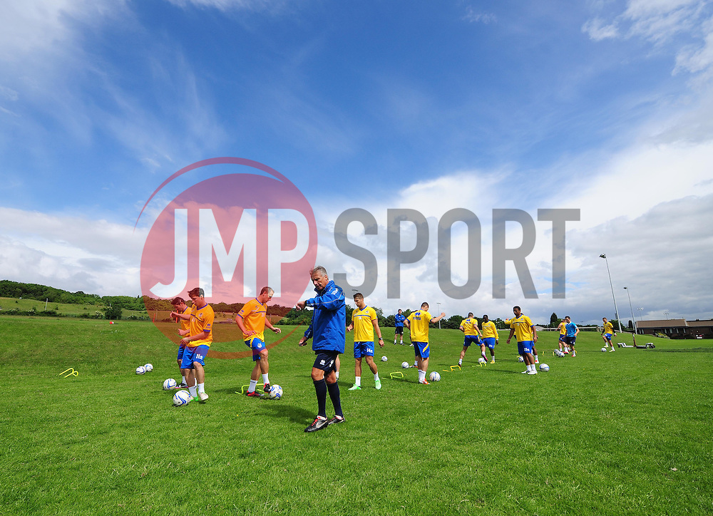 Bristol Rovers players are put through their paces as they return to pre season training - Photo mandatory by-line: Joe Meredith/JMP - Tel: Mobile: 07966 386802 24/06/2013 - SPORT - FOOTBALL - Bristol -  Bristol Rovers - Pre Season Training - Npower League Two