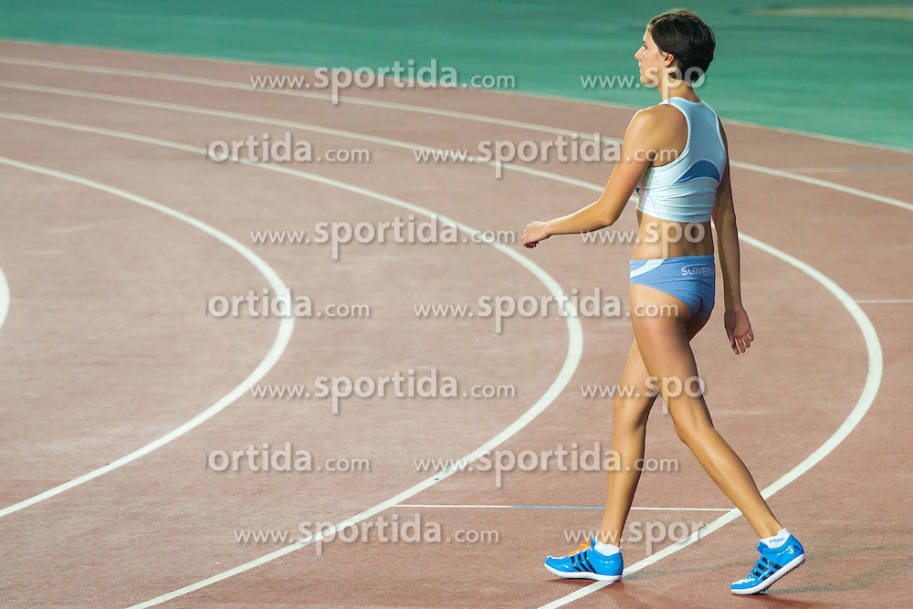 Lara Omerzu, young slovenian high jumper, at 2nd Youth Olympic Games in Nanjing, China. Photo by: Peter Kastelic
