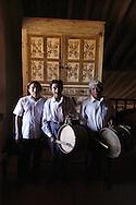 Santa Ana de Velasco's church musicians in front of the 18th local organ.
