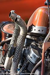 Custom HD Panhead in the Harley-Davidson Editors Choice bike show at the Broken Spoke Saloon. Daytona Bike Week 75th Anniversary event. FL, USA. Wednesday March 9, 2016.  Photography ©2016 Michael Lichter.