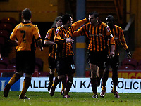 Photo: Jed Wee/Sportsbeat Images.<br /> Bradford City v Hereford United. Coca Cola League 2. 29/12/2007.<br /> <br /> Bradford celebrate with David Wetherall (5).