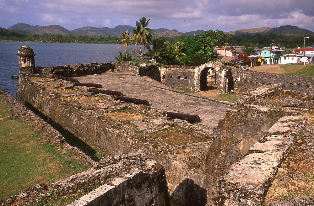 World Heritage Site the Fort of Santiago in Portobelo in Panama, CA.