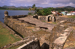 World Heritage Site the Fort of Santiago in Portobelo in Panama, CA.