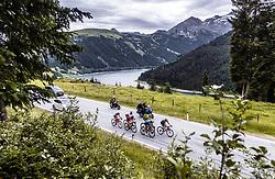 11.07.2019, Kitzbühel, AUT, Ö-Tour, Österreich Radrundfahrt, 5. Etappe, von Bruck an der Glocknerstraße nach Kitzbühel (161,9 km), im Bild Spitzengruppe, v.l.: Mario Gamper (Tirol KTM Cycling Team, AUT), Brice Feillu (Arkea Samsic, FRA), Yannik Achterberg (Maloja Pushbikers, GER), Tom Wirtgen (Wallonie Bruxelles, LUX), Andi Bajc (Team Felbermayr Simplon Wels, SLO), Michal Podlaski (Wibatech Merx, POL) // Spitzengruppe, v.l.: Mario Gamper (Tirol KTM Cycling Team, AUT), Brice Feillu (Arkea Samsic, FRA), Yannik Achterberg (Maloja Pushbikers, GER), Tom Wirtgen (Wallonie Bruxelles, LUX), Andi Bajc (Team Felbermayr Simplon Wels, SLO), Michal Podlaski (Wibatech Merx, POL) during 5th stage from Bruck an der Glocknerstraße to Kitzbühel (161,9 km) of the 2019 Tour of Austria. Kitzbühel, Austria on 2019/07/11. EXPA Pictures © 2019, PhotoCredit: EXPA/ JFK