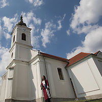 Clouds over the reformed church where Muslim and Christian members of the Fountain of Love choir from Jordan perform their concert to praise peace together in Balatonfokajar (about 90 km South-West of capital city Budapest), Hungary on July 14, 2018. ATTILA VOLGYI