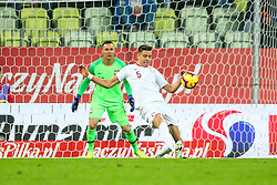 November 15, 2018 - Gdansk, Poland - Jan Bednarek of Poland in action during International Friendly match between Poland and Czech Republic on November 15, 2018 in Gdansk, Poland. (Credit Image: © Foto Olimpik/NurPhoto via ZUMA Press)