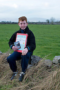Declan Cairney from Kinvara Co Galway with his book on Raptors. Declan will feature on Ear to the Ground programme. Picture:Andrew Downes.