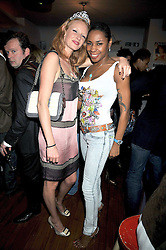 Left to right, OLIVIA INGE and SONIQUE at a party to celebrate the opening of Barts, Sloane Ave, London on 26th February 2009.