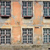 Europe, Estonia, Tallinn. Facade of an old building in the Toompea.