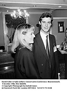 David Faber & Sally Gilbert. Conservative Conference. Bournemouth. 9 October 1986. film 86820f6<br />© Copyright Photograph by Dafydd Jones<br />66 Stockwell Park Rd. London SW9 0DA<br />Tel 0171 733 0108